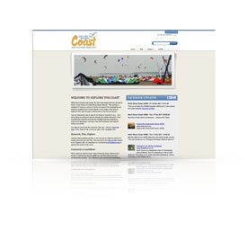 website for Explore the Coast